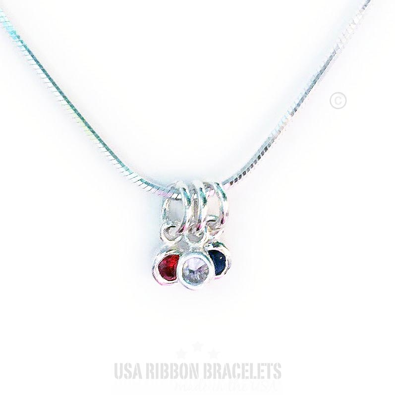 Red White Blue Charm Necklaces