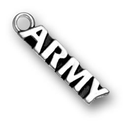 Sterling Silver Army Charm for Bracelets, Necklaces and Key Chains