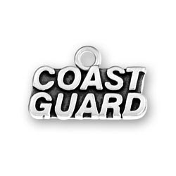 Coast Guard Charm in Sterling Silver