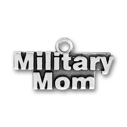 Product Description - Military Mom Charm This Sterling Silver Military Mom Charm will be proudly received and worn by every mom who has a son or daughter in the military.