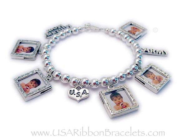 Pandora bracelet charms for mom this photo charm bracelet for