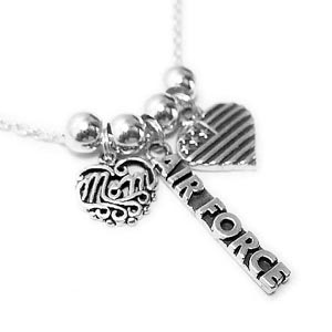 Air Force Mom Necklace (Sterling Silver)
